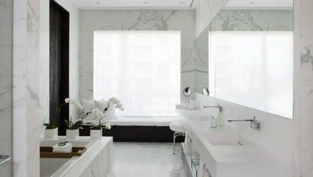 Marble Bathroom Yorkville Penthouse Toronto Canada Cecconi