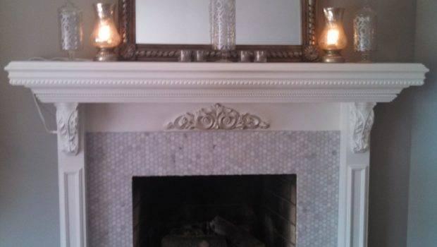 Marble Tile Fireplace Surround Design Ideas