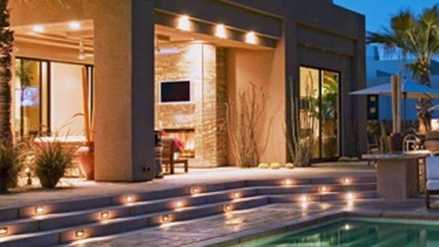 Marvellous Elegant Pool Area Lighting Yard Bright