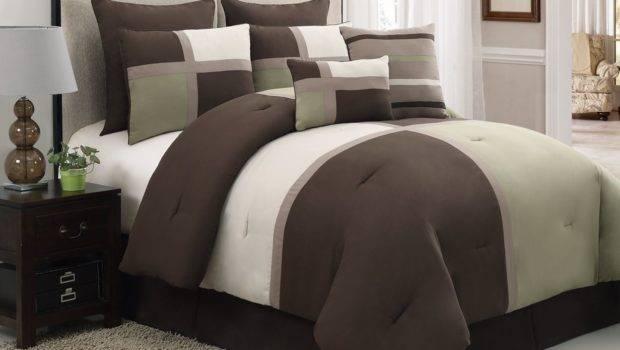 Masculine Bedding Sets Men Piece Brown Tan Bed Bag