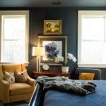 Master Bedroom Navy Walls Ceiling Home Pinterest
