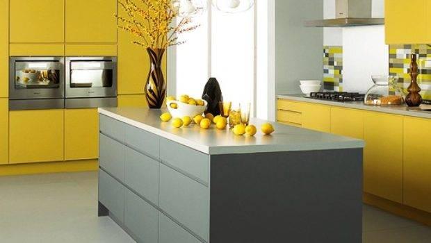 Matt Grey Yellow Kitchen Jewson Mixed Finish