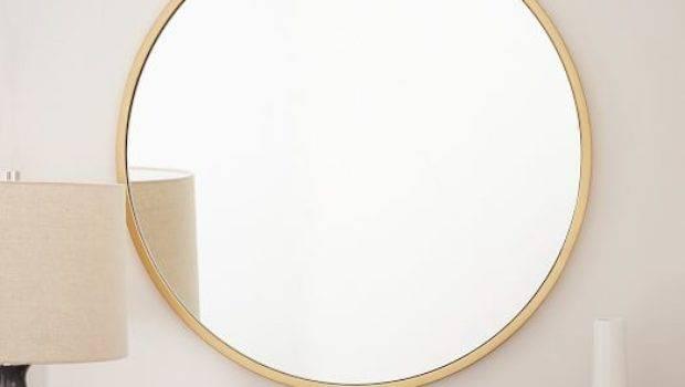 Metal Framed Round Wall Mirror West Elm