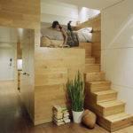 Mezzanine Bedroom Constructed Beautiful Teak Wood