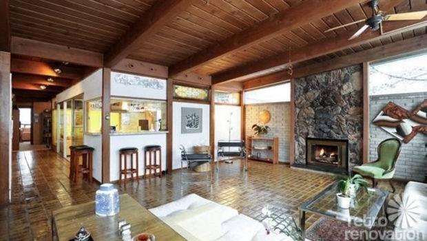 Mid Century Brick Tile Floors