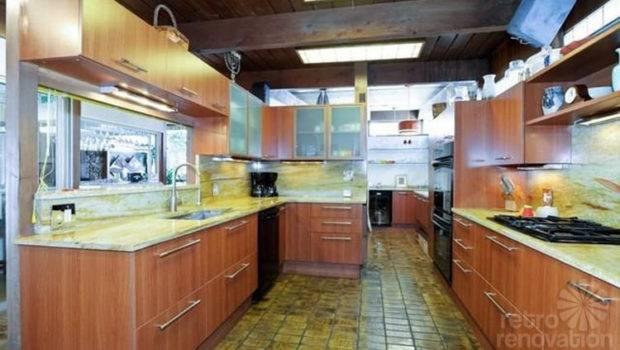 Mid Century Modern Kitchen Tiled Floor