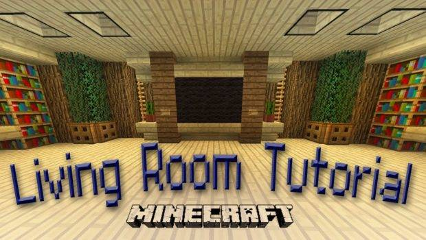 Minecraft Make Awesome Living Room Design Youtube
