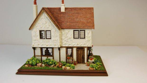 Miniature Miniatures Nell Corkin Pargeted House