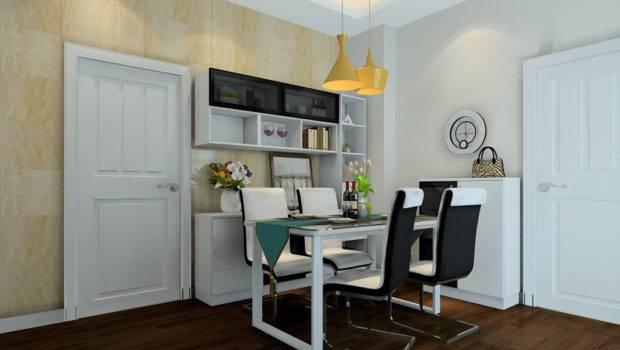 Minimalist Dining Room Black White Furniture