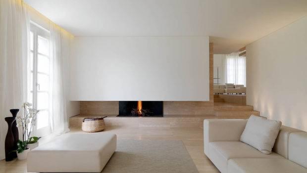 Minimalist Interior Tuscany Italy Contemporary Fireplace Decobizz