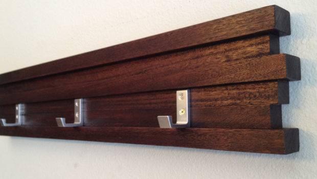Minimalist Modern Coat Rack Key Hook Hat Dark Modbox