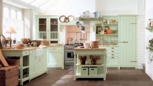 Mint Green Country Kitchen Decor Interior Design Ideas
