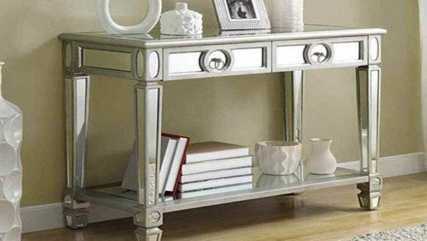 Mirrored Accent Table Furniture Ideas Hallway