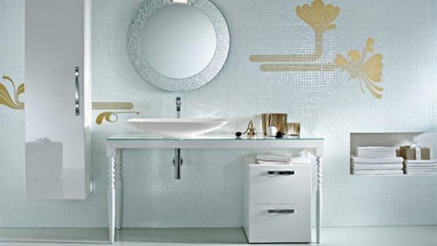 Mirrors Round Framed Mirror Glamorous Decorative Bathroom Ideas