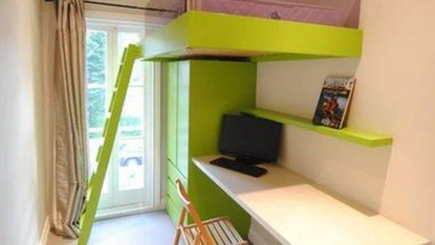 Mixing Work Pleasure Loft Beds Desks Underneath