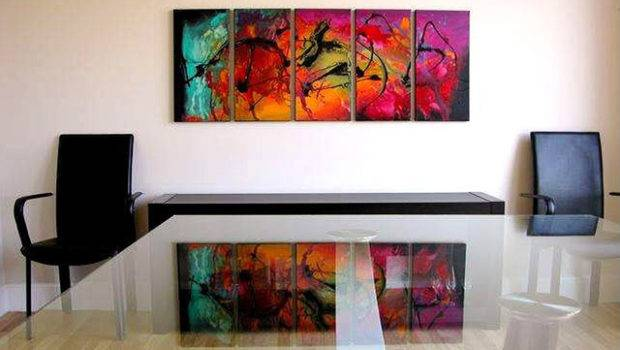 Modern Abstract Paintings Contemporary Home Office