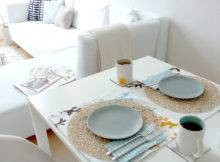 Modern Apartment Style Table Setting Ideas Wedding Reception
