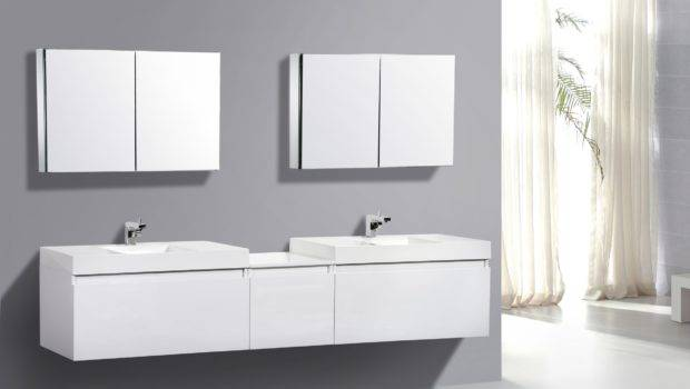 Modern Bathroom Furniture Cabinets White Color Two