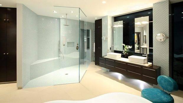 Modern Bathroom Large Shower Cabin Dark Brown