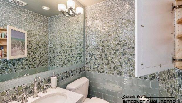 Modern Bathroom Tiles Designs Ideas Patterned Wall