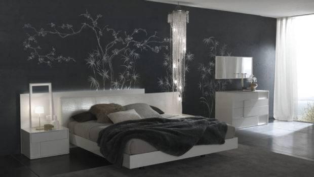 Modern Bed Room Designs Grey Wall Art Bedroom Gray Accent
