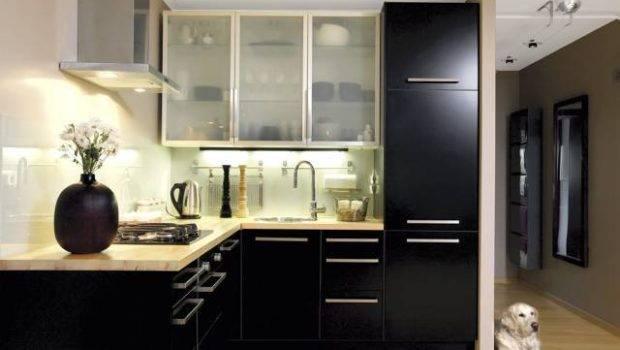 Modern Black Kitchen Cabinets Smart Home
