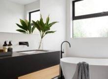Modern Black White Bathroom Tile Matte