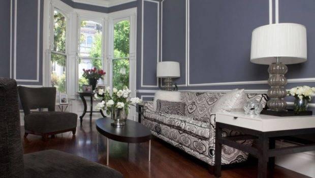 Modern Black White Blue Living Room Create Victorian