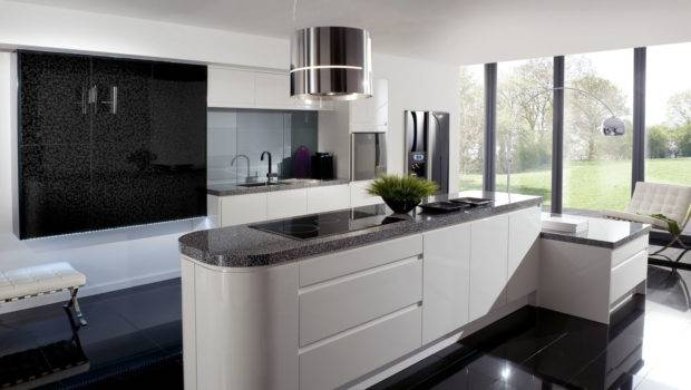 Modern Black White Kitchen Interior Design Liftupthyneighbor
