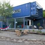 Modern Blue Home Four Shipping Containers Container