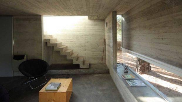 Modern Concrete Home Staircase Interior Design Zeospot