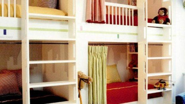 Modern Country Style Girls Bedrooms Bunk Beds