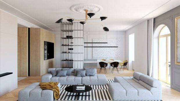 Modern Decor Meets Classical Features Two Transitional