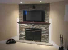 Modern Fireplace Stone Veneer Interior Ideas