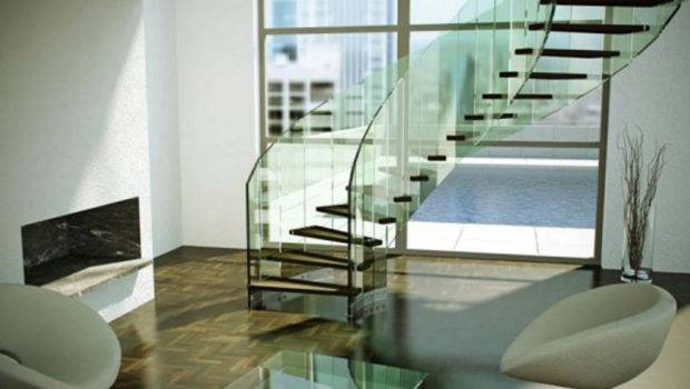 Modern Glass Staircase Designs One Total Spiral