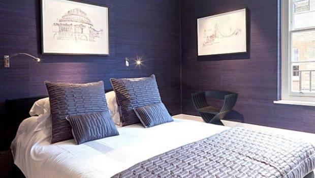 Modern Home Decor Bedroom Blue Wall Paint
