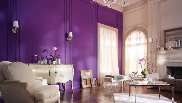 Modern Home Decor Purple Wall Painting Ideas