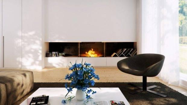 Modern Home Designs Inspiring Interior Fireplace White