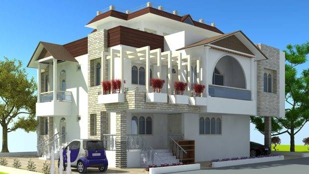 Modern Homes Latest Exterior Front Designs Ideas