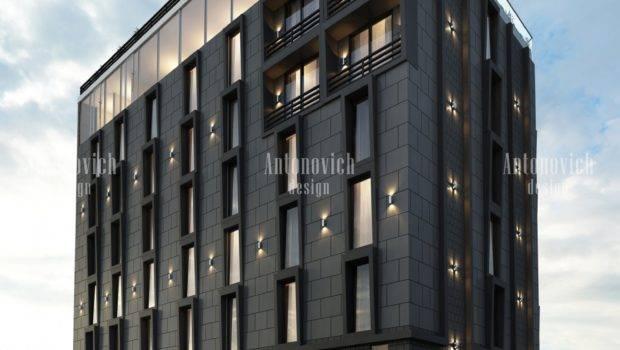 Modern Hotel Facade Dubai