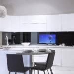 Modern Kitchen Bespoke Splashback Right Seven Integration