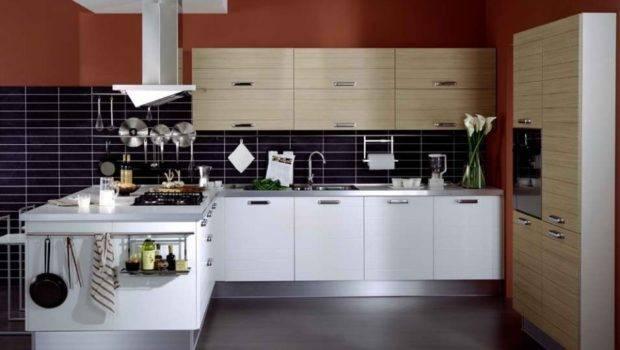 Modern Kitchen Cabinets Dark Green Color Amazing