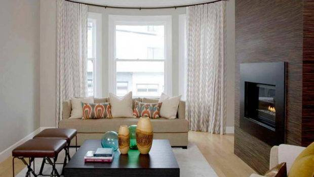 Modern Living Room Curtains Bay Windows Ideas Covering