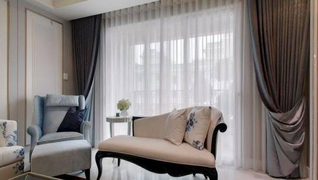 Modern Living Room Curtains Effect Chart Appreciation