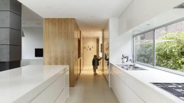 Modern Long Kitchen Design