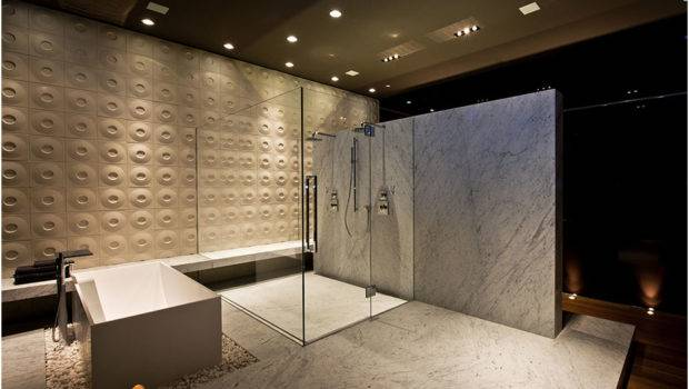 Modern Luxury Bathroom Huge Shower Cabin Bathtub