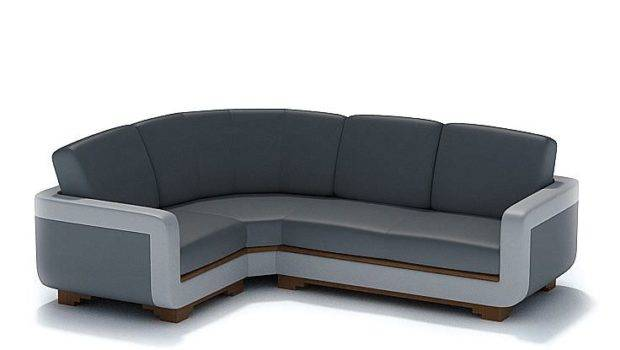 Modern Shaped Black Leather Couch Model Cgtrader