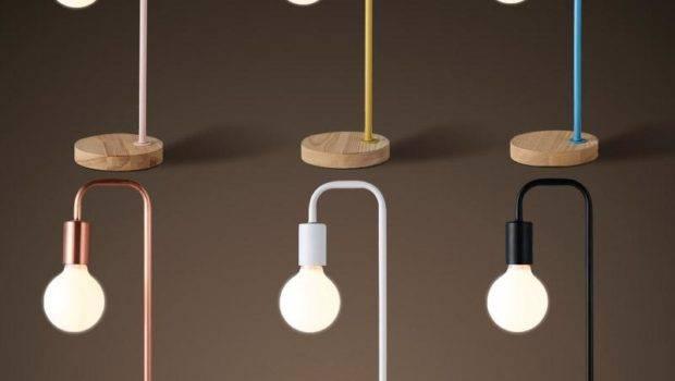Modern Simple Table Lamp Creative Wood Base