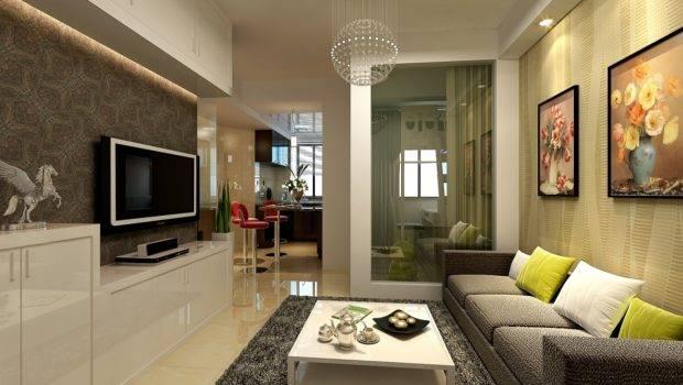 Modern Small Apartment Living Room Sofa Wall