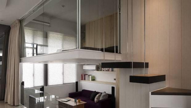 Modern Small Apartment Open Plan Loft Bedroom